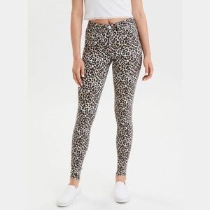 NWOT• AMERICAN EAGLE OUTFITTERS Animal Print Jeans